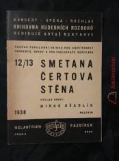 náhled knihy - Smetana - Čertova stěna (Obr, A6, 23 s., dedikace autora)