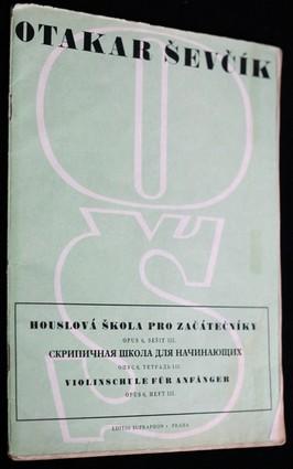 náhled knihy - Houslová škola pro začátečníky, op. 6. Seš. 3