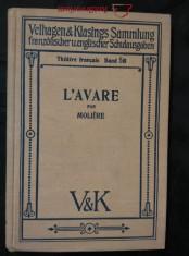 náhled knihy - L´Avare (A6, Ocpl, 150 s., komentář v něm.)