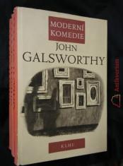 náhled knihy - Moderní komedie I, II, III (Ocpl., 334, 320, 348 s., ob a vaz V. Fuka)