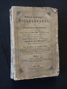náhled knihy - Andreas Haidinger´s Selbstadvokat oder gemeinverständliche Anleitung wie man  sich in Rechtgeschäften aller Art selbst vertreten? (A4, Obr, 444 s.)