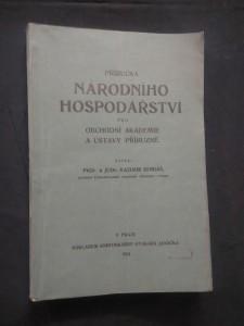 Příručka národního hospodářství pro obchodní akademie a ústavy příbuzné (Obr, 248 s.)
