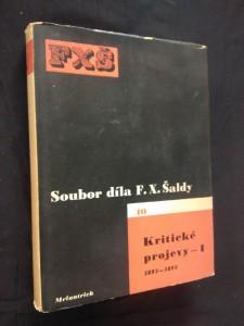 náhled knihy - Kritické projevy 1 - 1892 - 1893 (Oppl, 404 s., ob a typo K. Teige)