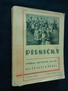 náhled knihy - Písničky - 500 českých perel - texty (Obr, 226 s., přil. dedikace aut.)