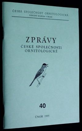 náhled knihy - Zprávy české společnosti ornitologické: 40