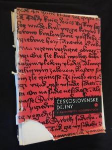 náhled knihy - Československé dejiny v archívnych dokumentoch 1 (A4, 20 s. úvod, 95 x faksimile s kom.)