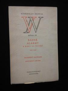 náhled knihy - Dílo IV - Básně alarmy a rány na buben (typo. F. Muzika)
