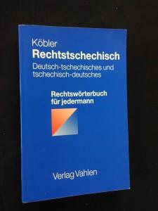 náhled knihy - Rechtstschechisch (D-Tsch, Tsch-D)