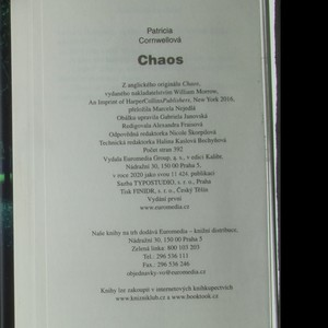 antikvární kniha Chaos, 2020
