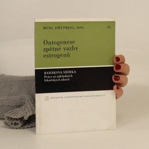 náhled knihy - Ontogenese zpětné vazby estrogenů