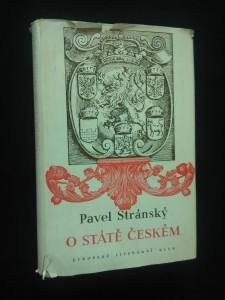 náhled knihy - O státě českém (ob, vaz,m typo J. Štyrský)