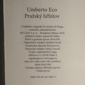 antikvární kniha Pražský hřbitov, 2011