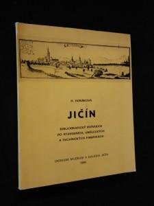 náhled knihy - Jičín - Bibliografický průvodce po stavebních, uměleckých a technických památkách (Obr, 152 s., foto O. Hrdlička, plán města B. Janáková)