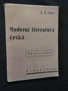 náhled knihy - Moderní literatura česká (Obr, 72 s.)