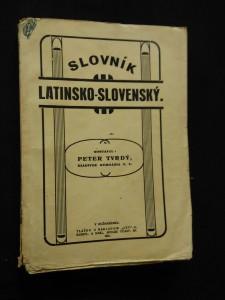 náhled knihy - Slovník latinsko-slovenský (Obr, 334 s.)