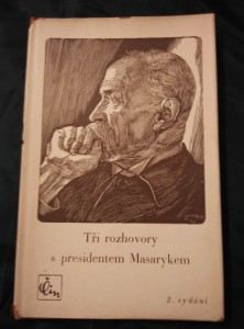 náhled knihy - Tři rozhovory s prezidentem Masarykem (A6, kart, 36 s.)