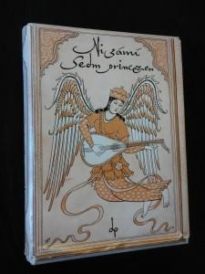 náhled knihy - Sedm princezen (Ocpl, 16 kamenorytin se 7bar. Lito, 8 kreseb V. Fiala, typo M. Kaláb, dedikace J. Rypka)