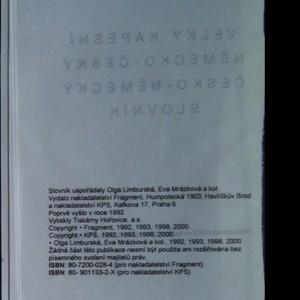 antikvární kniha Velký kapesní německo-český česko-německý slovník, neuveden
