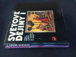 náhled knihy - Světové dějiny I, II - od pravěku do pol. 17. stol. A do současnosti (A4, 176 a 256 s., iál., foto, mapy)