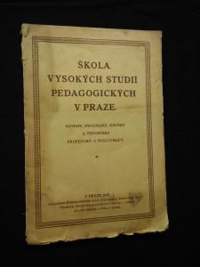náhled knihy - Škola vysokých studií pedagogických v Praze 1921 - 27