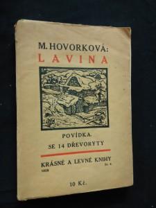 náhled knihy - Lavina (obr., 140 s., 14 dřevorytů O. Ondráček)