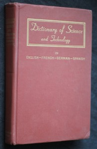 náhled knihy - Dictionary of science and technology in english- french-german-spanish