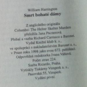 antikvární kniha Smrt bohaté dámy : příběhy inspektora Columba, 1998