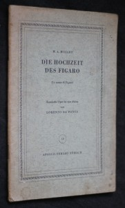 náhled knihy - Die Hochzeit des Figaro