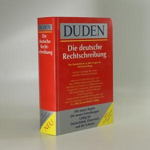náhled knihy - Die deutsche Rechtschreibung