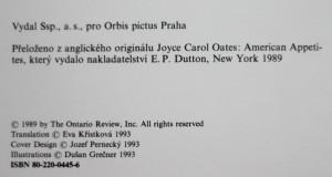 antikvární kniha Americké chutě, 1993