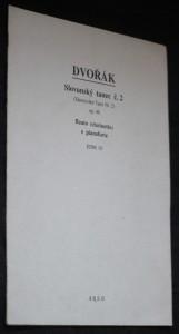 náhled knihy - Slovanský tanec, op. 46. Č. 2; aranžmá Slovanský tanec č. 2 (Slawischer Tanz Nr. 2) ; flauto (clarinetto) e pianoforte : op. 46
