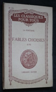 náhled knihy -  La fontaine. Fables choisies