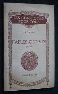 náhled knihy - La fontaine, fables choisies