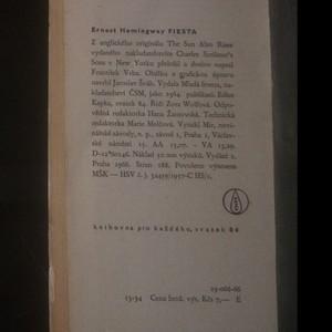 antikvární kniha Fiesta, 1966