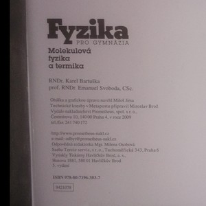 antikvární kniha Fyzika pro gymnázia. Molekulová fyzika a termika, 2009