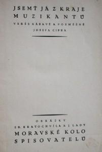 antikvární kniha Jsemť já z kraje muzikantů : Verše káravé a posměšné, neuveden