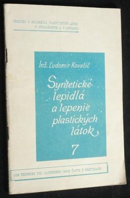 náhled knihy - Syntetické lepidlá a lepenie plastických látok