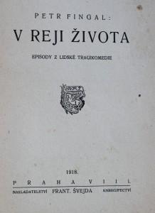 antikvární kniha V reji života : episody z lidské tragikomedie, 1918