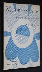 náhled knihy - Milostný hlas : parafráze německé lidové poesie