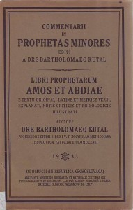 náhled knihy - Comentari in Prophetas minores. Libri prohetarum Amos et Abdiae.