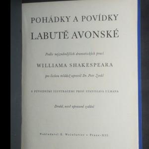 antikvární kniha Pohádky a povídky labutě avonské dle nejznámějších dramatických prací williama shakespeara, neuveden