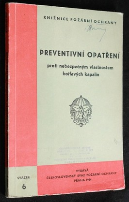 náhled knihy - Preventivní opatření proti nebezpečným vlastnostem hořlavých kapalin