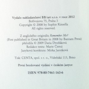 antikvární kniha Vzpomínáš si?, 2012