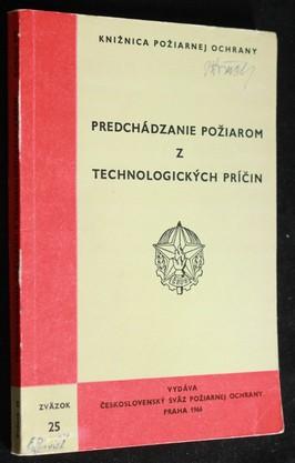 náhled knihy - Predchádzanie požiarom z technologických príčin