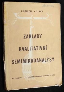 náhled knihy - Základy kvalitativní semimikroanalysy