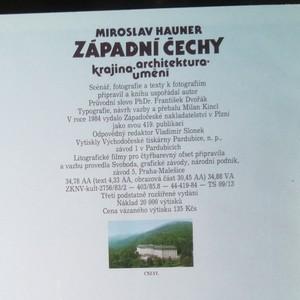 antikvární kniha Západní Čechy. Krajina, architektura, umění (včetně přílohy), 1984