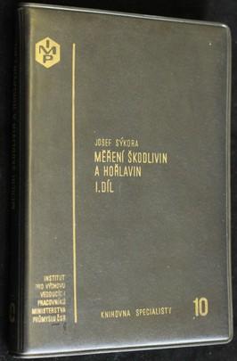 náhled knihy - Měření škodlivin a hořlavin I. díl