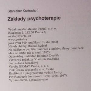 antikvární kniha Základy psychoterapie, 2002