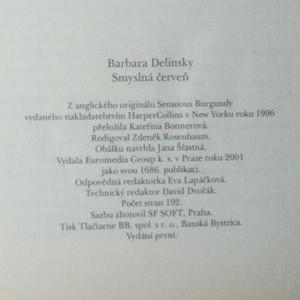 antikvární kniha Smyslná červeň, 2001