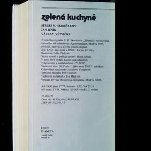 antikvární kniha Zelená kuchyně, 1988
